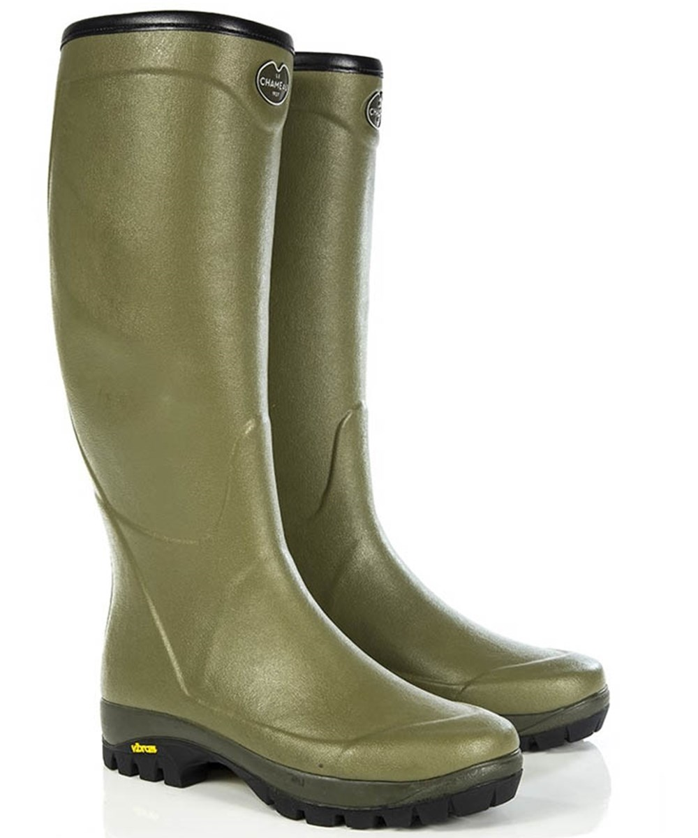 hot-selling cheap enjoy lowest price unique design Le Chameau Country Vibram Jersey Lined Boot